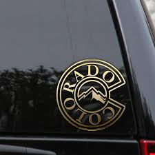 Colorado Decal Sticker State Outline Flag Mountains Car Truck Window Laptop State Outline Decals Stickers Flag Decal
