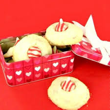candy cane kiss cookies peppermint