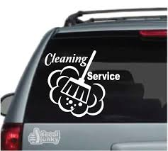 Janitorial Cleaning Car Decals Stickers Decal Junky