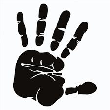 Black Hand Print Funny Window Sticker Vinyl Decal For Car Truck Bumper Laptop Ebay