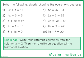 standard two step linear equations
