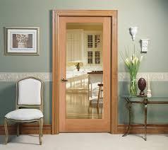 decorative glass interior door