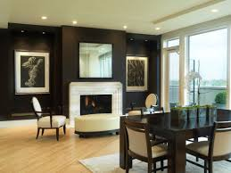 exquisite black wall living room ideas