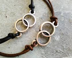 gift set his and hers leather bracelet