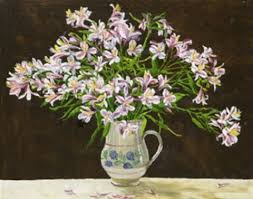 Still life with lisianthus by Marion Murray on artnet