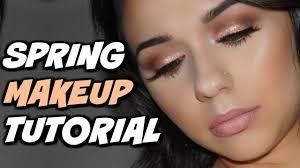spring time makeup tutorial full face