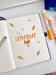September bullet journal cover page ...