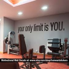 Your Only Limit Is You Quote Sports Decals Gym Wall Decal Workout 43 Liked On Polyvore Featuring Home Home D Home Gym Decor Gym Room At Home Gym Decor