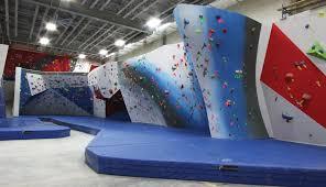 landing zones around climbing walls get
