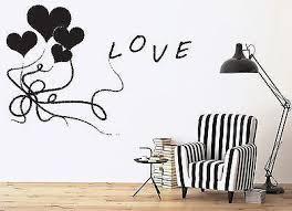 Wall Sticker Vinyl Decal Sign Love Air Balloons Heart Ribbon Bows Uniq Wallstickers4you