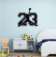 Wall Decal Michael Jordan With Number 23 Wall Sticker Usa