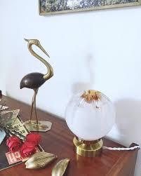 murano mazzega glass vintage globe lamp