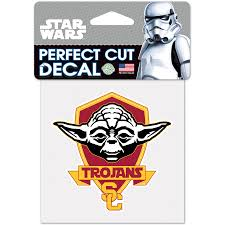 Wincraft Usc Trojans 4 X 4 Perfect Cut Yoda Decal