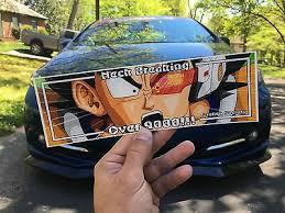 Dragon Ball Z Slap Sticker Jdm Car Decal Vinyl Camber Stance Window Honda Japan Ebay