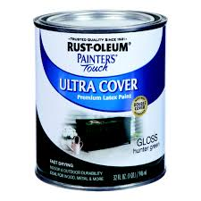 Rust Oleum Painters Touch Ultra Cover Interior Exterior Latex Paint Hunter Green Gloss 1 Qt Stine Home Yard The Family You Can Build Around