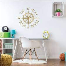 Amazon Com Compass Wall Decal You Are My Greatest Adventure Vinyl Sticker Decorations For Bedroom Playroom Study Area Or Living Room Decor Handmade