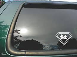 Amazon Com Autism Super Hero Symbol Die Cut Vinyl Window Decal Sticker For Car Or Truck 4 X5 Automotive