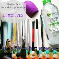 wash dry your makeup brushes