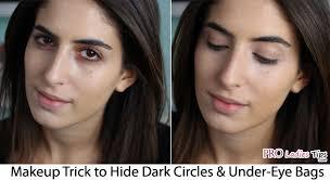 trick to hide dark circles under eye bags