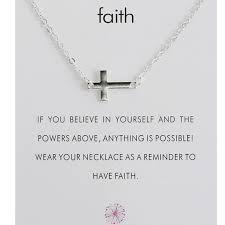 dainty religious faith horizontal cross