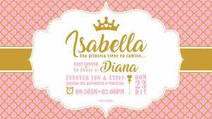 Invitacion Para Baby Shower Tematica Princesa Babyshowerisab