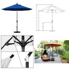 9 complete fiberglass market umbrella