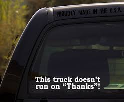 Funny This Truck Doesn T Run On Thanks Vinyl Decal Etsy