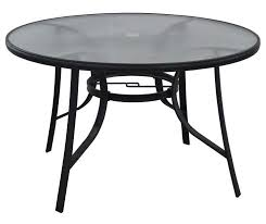 48 round glass dining patio table at