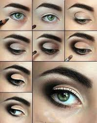 eye makeup for big eyes step by