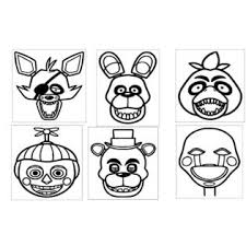 Bubbas 6 Of The Five Nights At Freddys Heads 5x6 Vinyl Car Truck Window Decal Stickers