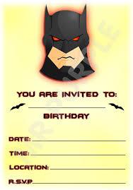 Superhero Batman Invitaciones De Fiesta De Cumpleanos Diseno De