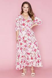 Adeline White Floral Maxi Dress – Little Party Dress