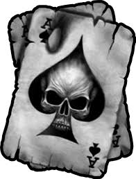 Ace Of Spades Skull Decal Sticker 01
