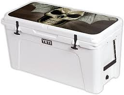 Amazon Com Mightyskins Cooler Not Included Skin Compatible With Yeti Tundra 110 Qt Cooler Lid Wrap Cover Sticker Skins Skeletor
