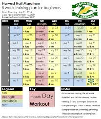 8 week half marathon training run