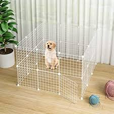 Buy Jyyg Small Pet Pen Bunny Cage Dogs Playpen Indoor Out Door Animal Fence Puppy Guinea Pigs Dwarf Rabbits Pet F White Open Door Online At Low Prices In India Amazon In