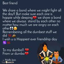 best friend we share a b quotes writings by nidhi jain