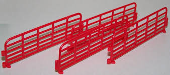 35154 1 64 Red Fence Panels Action Toys