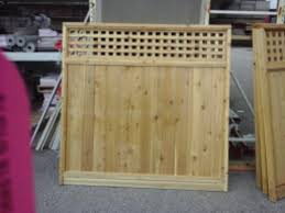 5 10 6 Cedar Lattice Top Fence Panel At Menards