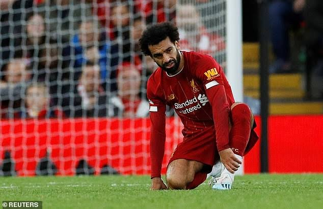 Image result for Relief for Liverpool as Salah Avoids Serious Ankle Injury