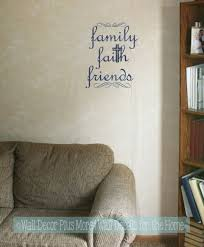 Family Faith Friends Religious Wall Words Wall Art Decal Stickers