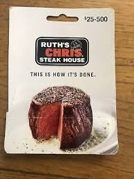100 ruth s chris steakhouse gift card