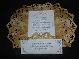 Tarjeta De Invitacion Con Blonda Vintage Campestre 30 00 En