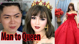 man to woman makeup transformations