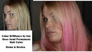 hair dye process l ion rose 8r hm