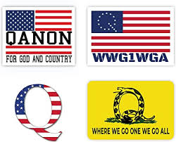 Amazon Com Meme Speech Q Flag Assortment Sticker Pack 4 Pack Wwg1wga Qanon The Great Awakening Glossy Trump 2020 Decal Window Bumper Cars Maga All American Vinyl Decals American Made Usa Flag