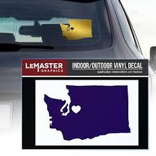 2 Pack Seattle Wa Car Weatherproof Window Decals In Retail Packaging Uw Huskies Ebay