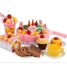 Plastic Kitchen Birthday Cake Toy Gift For Children Kids Girls 75pcs Set Kitchen Toys Aliexpress