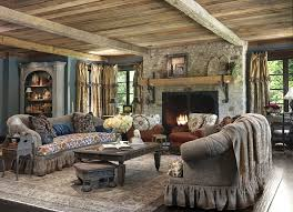 natural stone fireplace surround