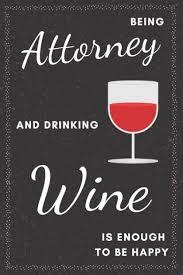 attorney drinking wine notebook